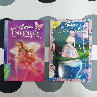 2 Malay story books (1.Barbie  Fairytopia  2. Barbie of Swan Lake)
