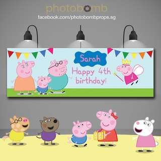 CUSTOM Peppa Pig Birthday Banner