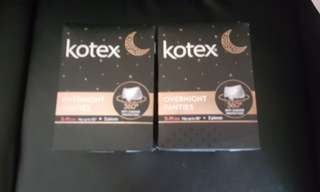 Brand new Kotex Overnight panties