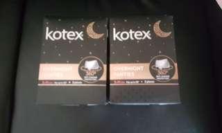 Brand new Kotex Overnight panties