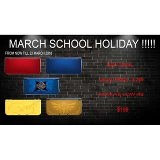 PRE OWN NEW 3DS XL MARCH HOLIDAY DEALS
