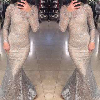 Glitter Lace Evening Formal Gown PREORDER