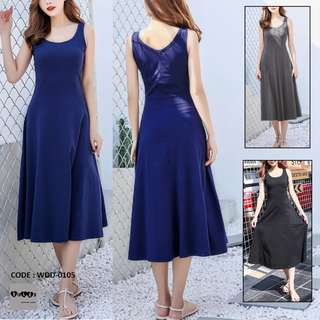 Fit and Flare Cotton Dress WDD-0105