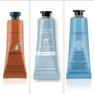 3 x 25ml *Crabtree & Evelyn Hand Therapy