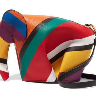 Loewe rainbow color elephant shoulder bag