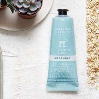 ❗️FREE NM❗️Crabtree & Evelyn - Goatmilk & Oat Hand Therapy