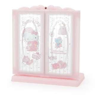 Japan Sanrio Hello Kitty Glittering Desktop 3 Side Mirror