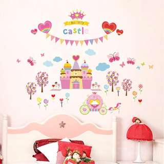 [Mix&Match:2@$25] The Fairy Castle Wall Sticker/ Decal/ Wallpaper/ Party Decor/ Centrepiece/ Removable/ Girls/ Bedroom/ Backdrop/ Props/ Accessories