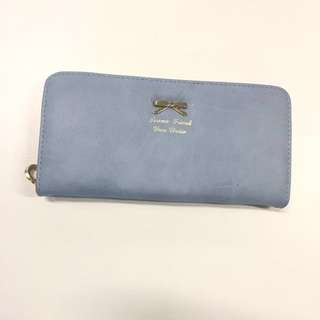 Cute Blue Suede Wallet