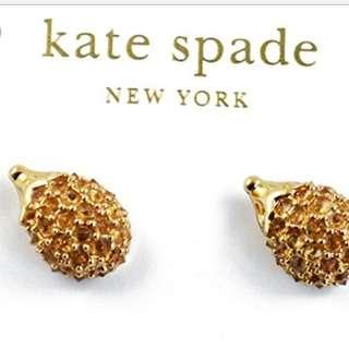 Kate Spade - Into The Woods Hedgehog Studs 12K Gold