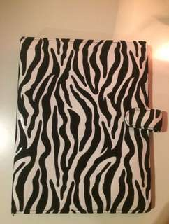 ZEBRA PATTERN BINDER