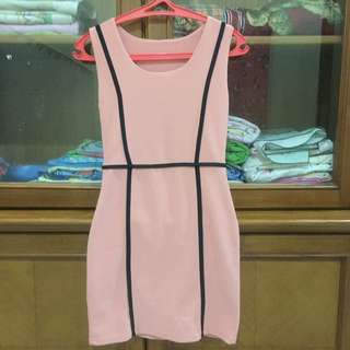 Pink Dress Body Fit