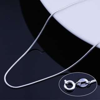 s925纯银韩版气质圆蛇骨链短款锁骨项链防过敏银饰品吊坠送女友