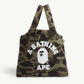 A Bathing Ape BAPE 1st Camo Foldaway Tote Bag