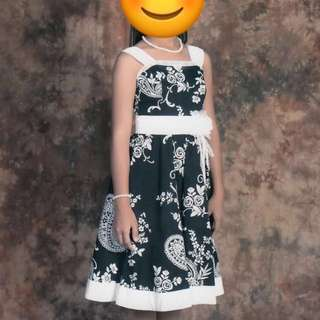 REPRICED Black and White Dress for Special Occasions