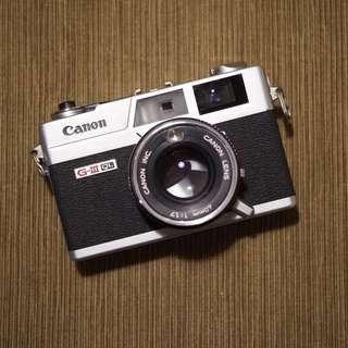 Canon Canonet QL17 GIII Film Rangefinder Camera