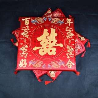 chinese wedding cushion