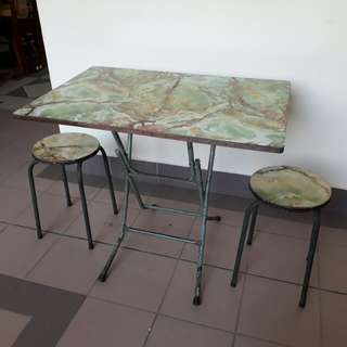 SALE vintage faux marble formica folding table