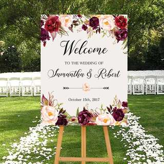 CUSTOM Wedding & Party Welcome Easel Sign Boards