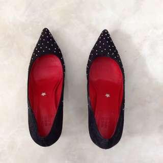 Pedder Red studded heels