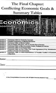 H2 economic summary and notes