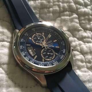 Seiko Blue Chronograph