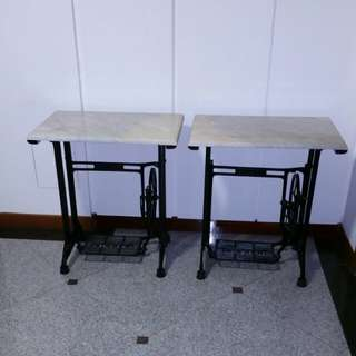 Singer legs, marble tops; w/ delivery