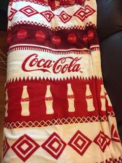 可口可樂珊瑚絨毯子