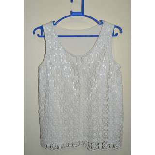Old White Laced Sleeveless