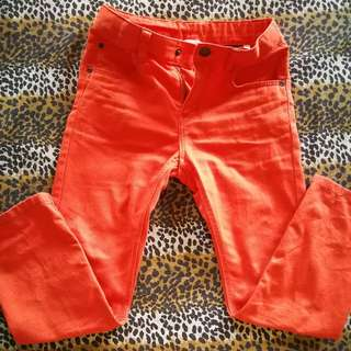 Pre Loved Authentic H&M Orange Slim Pants for Boys