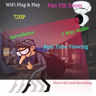 Wifi Camera 720P Motion Detection 2 Way Audio Surveillance Home Office