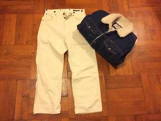 Japan Johnbull White pants 工作服 worker