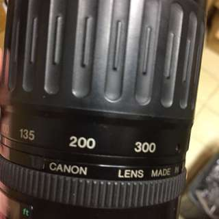 鏡頭 canon 100 300mm af for ef 單眼相機