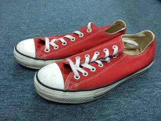 All Star Converse red shoes