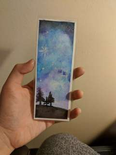 Hand made watercolor bookmark