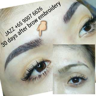 6D HAIRSTROKES BROW EMBROIDERY