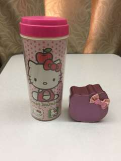 Hello Kitty double wall water bottle screw on cap