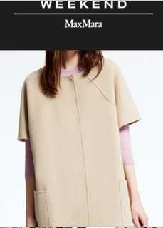 Maxmara weekend cashmere coat 99%new