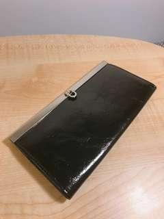 Black wallet 黑色長型銀包/錢包