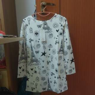 Long sleeved patterned dress (2 options)