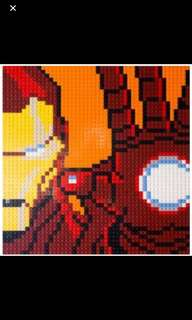 Lego Iron Man Mosaic Marvel Super Heroes Avengers Infinity War 76105