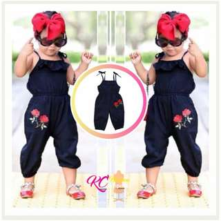 👧 GIRLS JUMPSUIT CLOTHES Kids Overall Trouser ° Flower Embroidery Baby Romper ° Infant Hot Fashion Kids Outfit ° OOTD