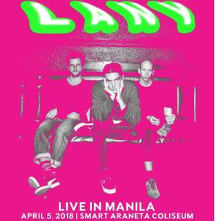 LANY LIVE IN MANILA- CONCERT TICKET DAY 1 UPPERBOX
