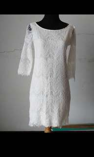 This is april - white lace dress