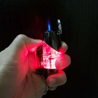 Windproof lighter with led light up