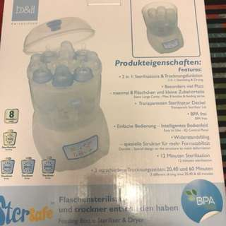 100% new stersafe feeding bottle sterilizer and dryer 奶樽消毒機