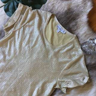 Finders Keepers Gold Shift Tshirt/dress Size S
