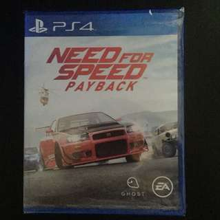 PS4 Need For Speed Payback (Brand New)