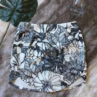 Flower Print Skirt Size 8