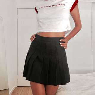 American apparel pleated mini skirt